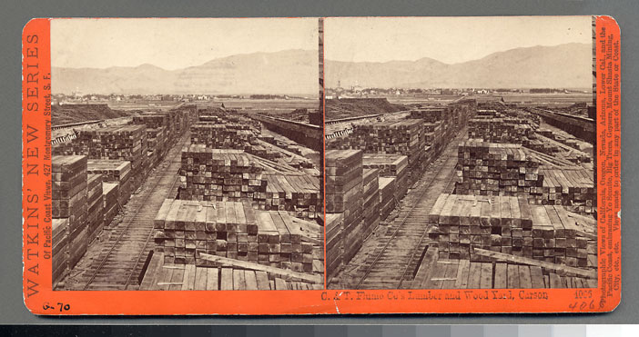 Watkins #4066 - C. & T. Flume Co.'s Lumber and Wood Yard, Carson, Nev.