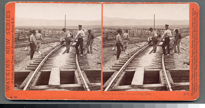 Watkins #4077 - Track Repairs, Empire City, Nev.