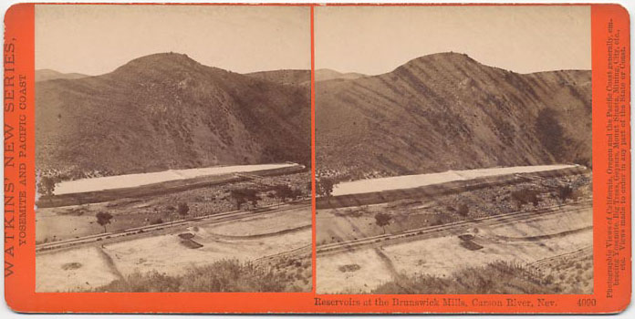 Watkins #4090 - Reservoirs at the Brunswick Mills, Carson River, Nev.
