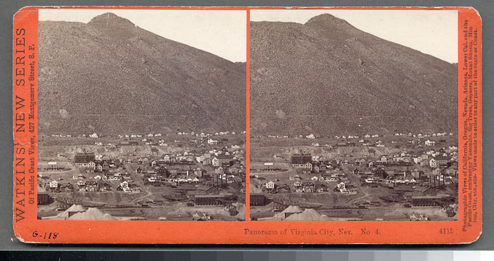Watkins #4115 - Panorama of Virginia City, Nev. #4
