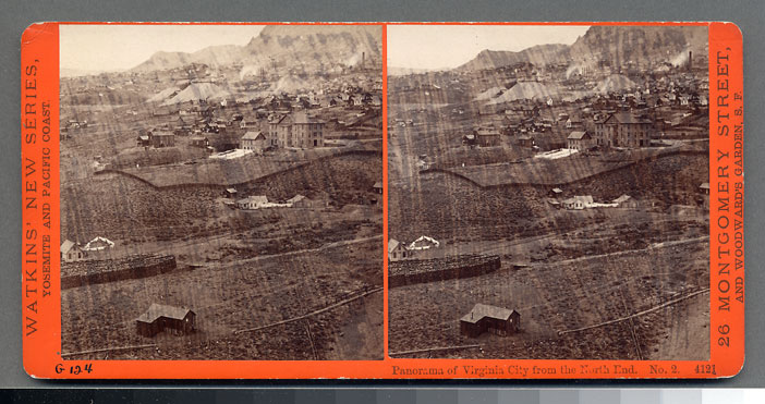 Watkins #4121 - Panorama of Virginia City from North End, Nev. #2