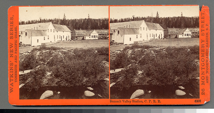 Watkins #4208 - Summit Valley Station. C.P.R.R., Cal.