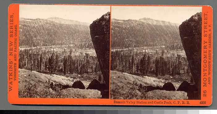 Watkins #4209 - Summit Valley Station and Castle Peak, C.P.R.R., Cal.