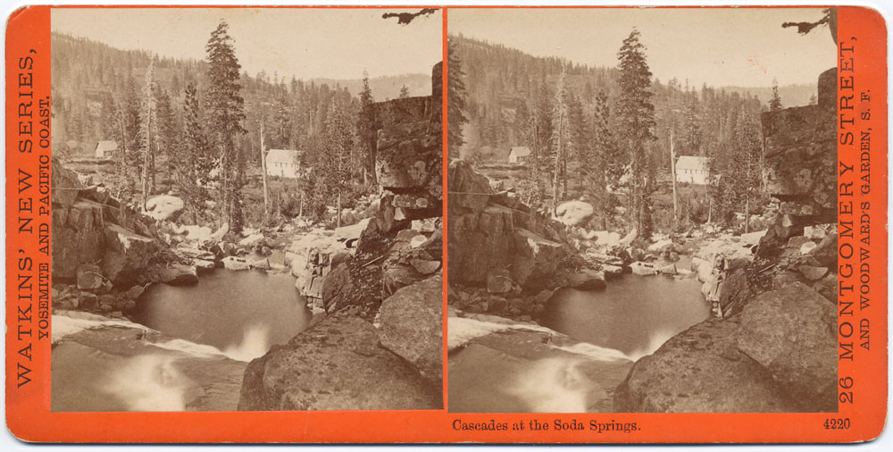 Watkins #4220 - Cascades at the Soda Springs, Cal.