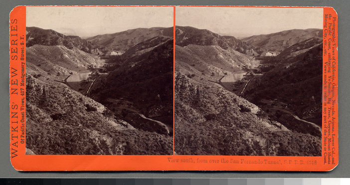 Watkins #4318 - View south from the San Fernando Tunnel, S.P.R.R., Cal.