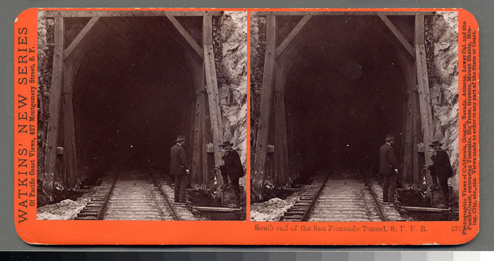 Watkins #4319 - South end of San Fernando Tunnel, S.P.R.R., Cal.