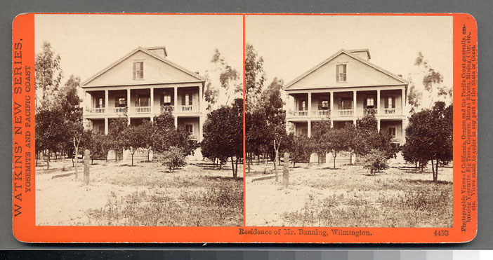 Watkins #4493 - Residence of Mr. Banning, Wilmington, Cal.