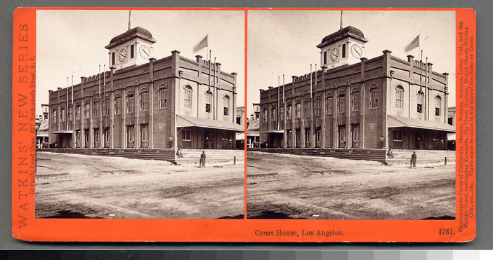 Watkins #4761 - Court House, Los Angles, Cal.