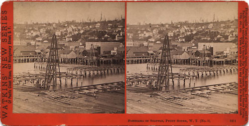 #5211 - Panorama of Seattle, Puget Sound, W.T., No. 5.