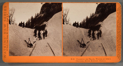 #E35 - Clearing the Track, Winter of 1884-85, Columbia River, Oregon