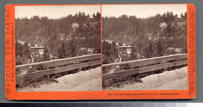Watkins #5010 - Powder Works from the S.P.C.R.R. Santa Cruz, Cal.