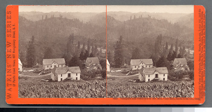 Watkins #5015 - Vineyard and residence of Mr. Mel, Vine Hill, Santa Cruz Co., Cal.