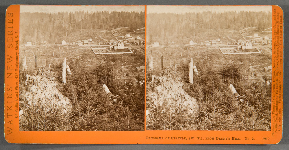 Watkins #5219 - Panorama of Seattle, (W.T.), from Denny's Hill, No. 2.