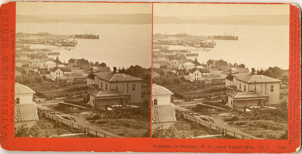 Watkins #5224 - Panorama of Seattle, (W.T.), from Denny's Hill, No. 7.
