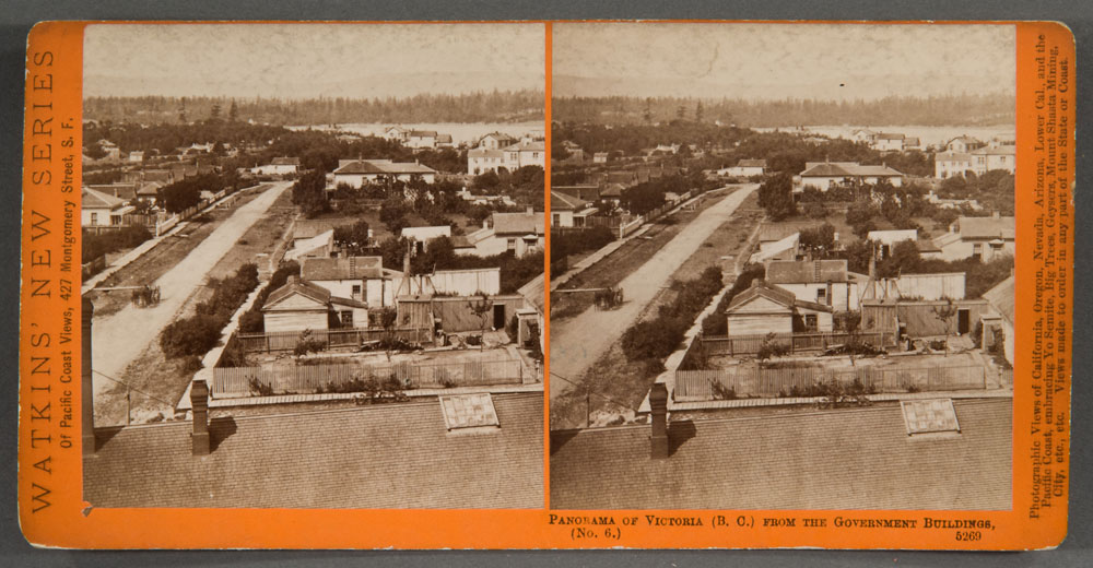 Watkins #5269 - Panorama of Victoria. (B.C.), from the Gov't Buildings, No. 6.