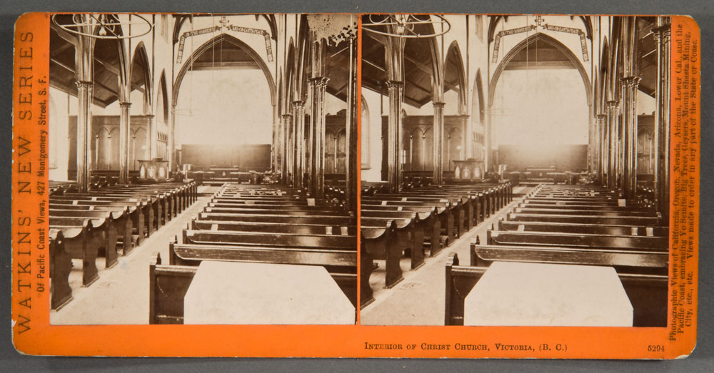 Watkins #5294 - Interior of Christ Church, Victoria, (B.C.).