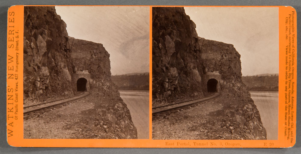 Watkins #E20 - East Portal, Tunnel #3, Columbia River, Oregon.