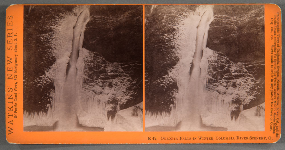 Watkins #E42 - Oneonta Falls in Winter, Columbia River Scenery, Oregon
