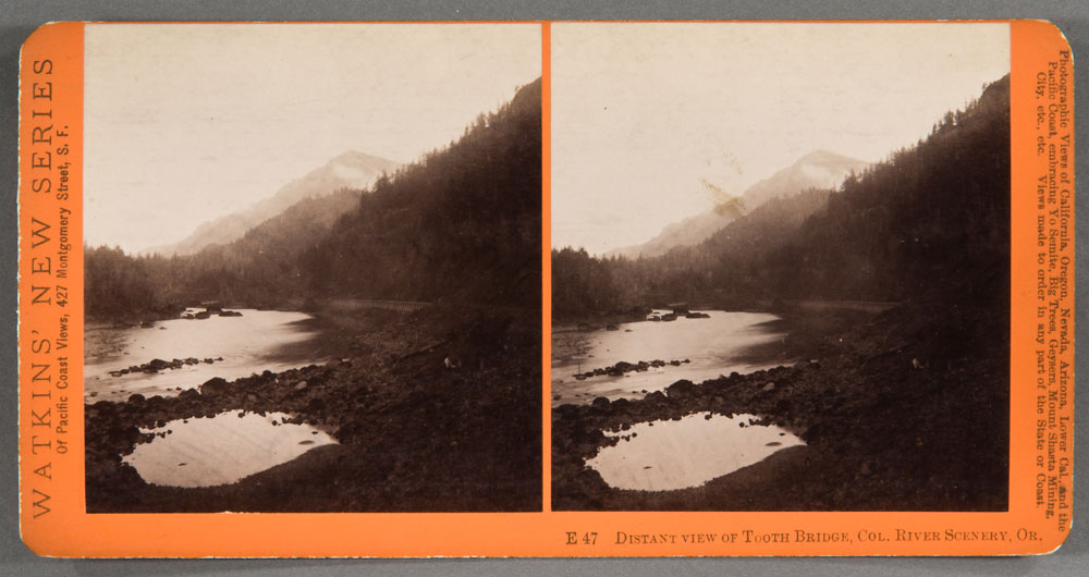 Watkins #E47 - Distant View of Tooth Bridge, Columbia River Scenery, Oregon
