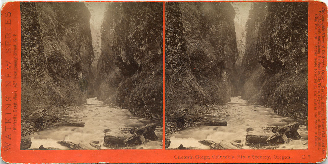 Watkins #E7 - Oneonta Gorge, Columbia River Scenery, Oregon