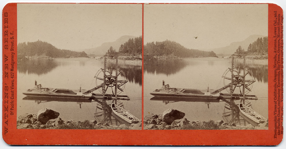 Watkins #E14 - Salmon Wheel Boat, Columbia River, Oregon