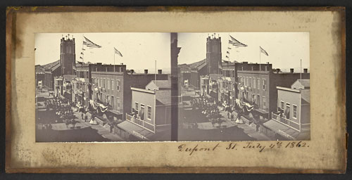 Unnumbered View - Dupont St. July 4th, 1862