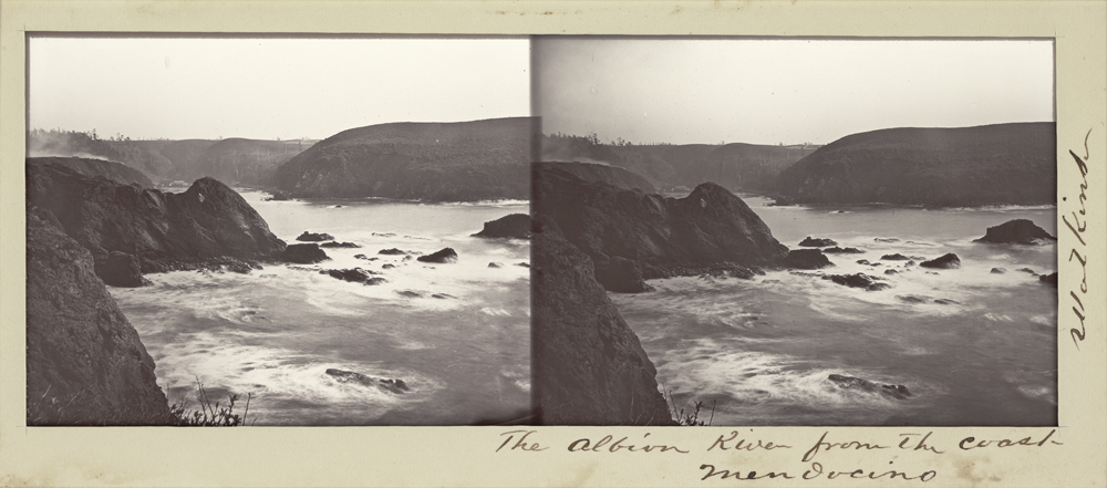 Watkins Unnumbered View - The Albion River from the Coast, Mendocino