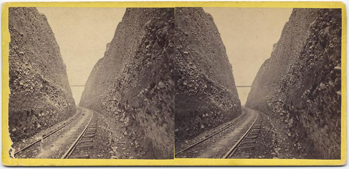 Watkins #9 - Bloomer Cut, 800 feet long, looking East