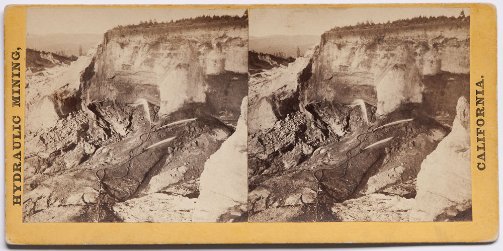 Watkins #61 - Hydraulic Mining at Gold Run. Placer County