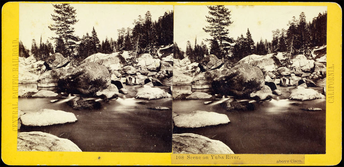 Watkins #108 - Scene on Yuba River, above Cisco