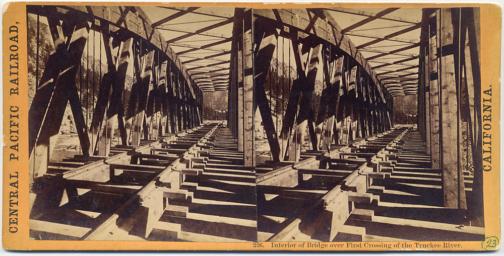 Watkins #226 - Interior of the Bridge over First Crossing of the Truckee River