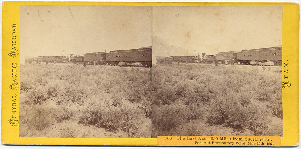 Watkins #360 - The Last Act - 690 miles from Sacramento. Scene at Promontory Point, May 10, 1869
