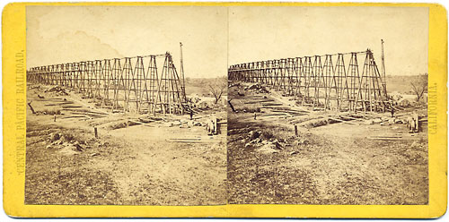 #145 - Building Trestle at Newcastle, Placer County