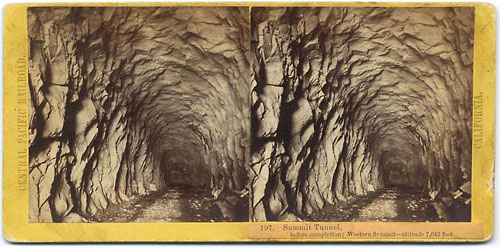 #197 - Summit Tunnel, before completion - Western Summit - Altitude 7,042 feet