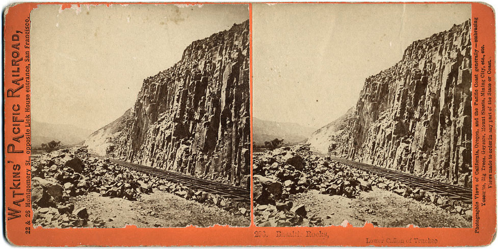 Watkins #296 - Basaltic Rocks, Lower Canyon of the Truckee
