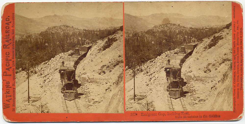 Watkins #167 - Emigrant Gap, looking East. Yuba Mountains in distance