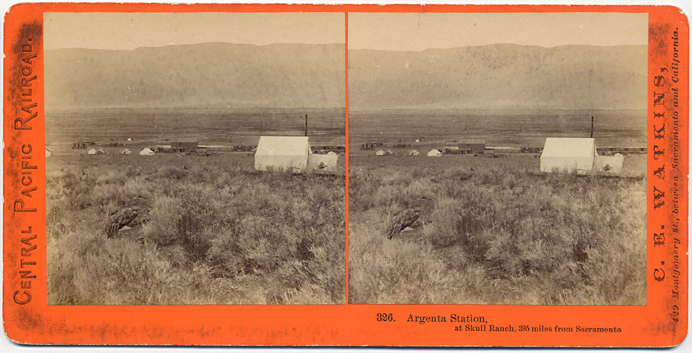 Watkins #326 - Argenta Station, at Skull Ranch, 395 miles from Sacramento