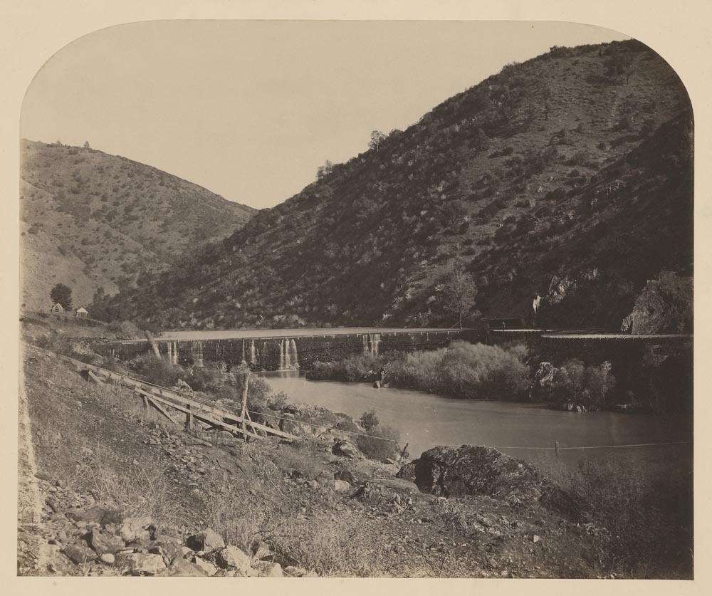 Watkins Unnumbered View - Benton Dam and the Merced River