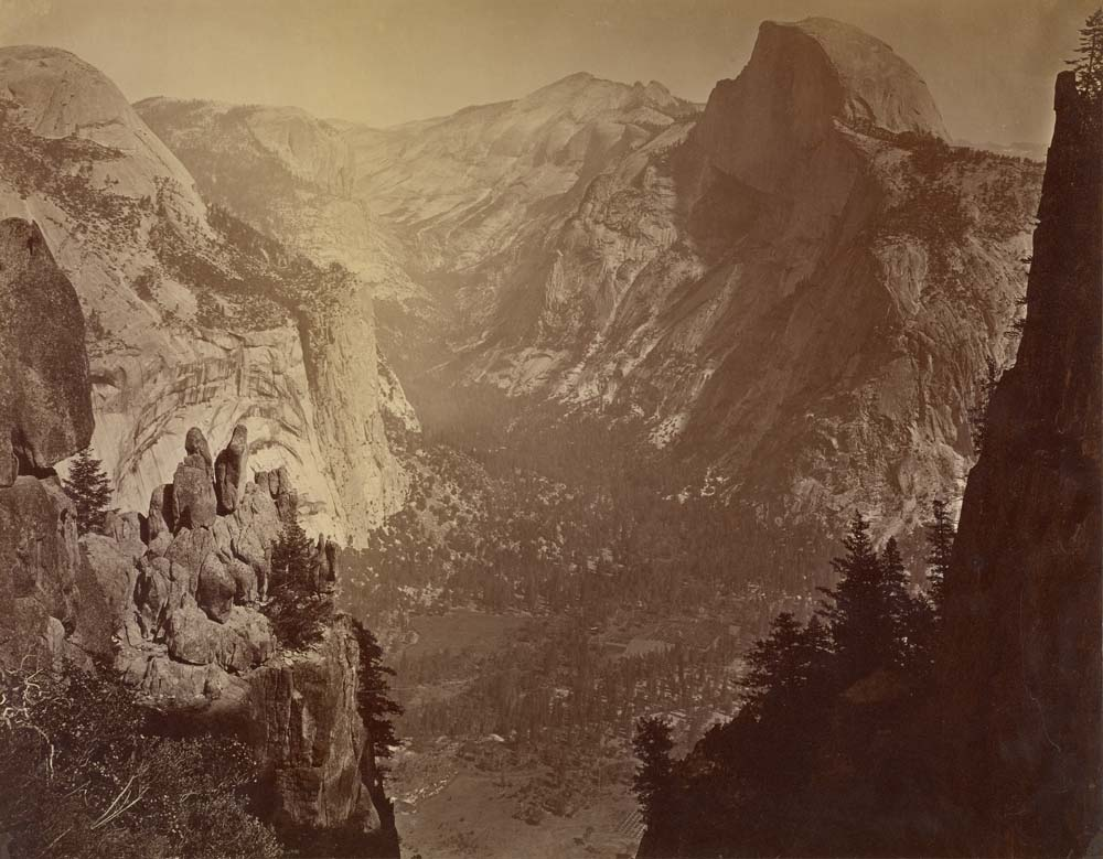 Watkins #676 - The Domes from Moran Point, Yosemite