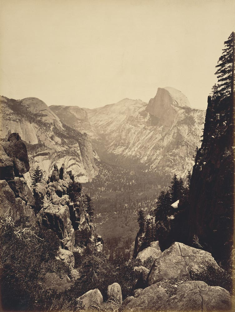 Watkins #680 - The Domes from Moran Point, Yosemite