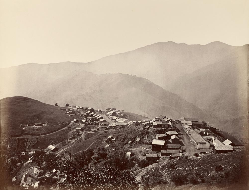 Watkins #135 - Town on the Hill from the Mine Peak, New Almaden