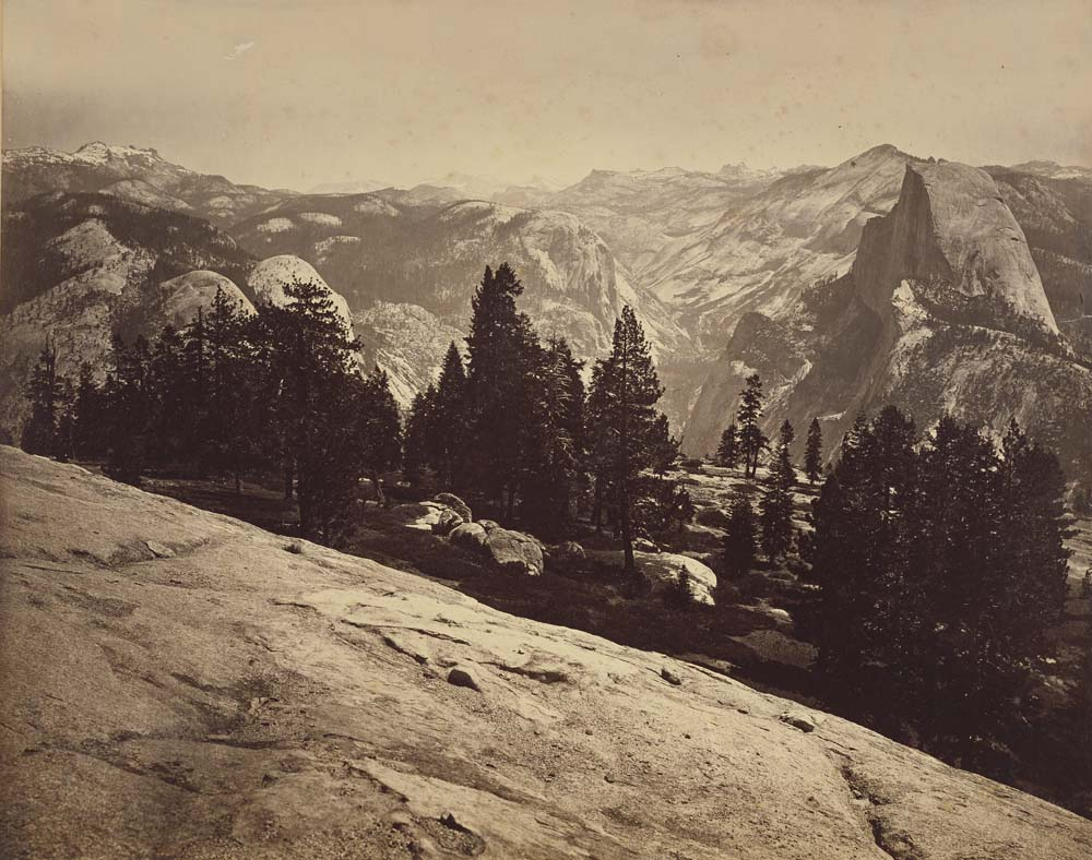 Watkins #95 - The Domes from Sentinel Dome, Yosemite (A)
