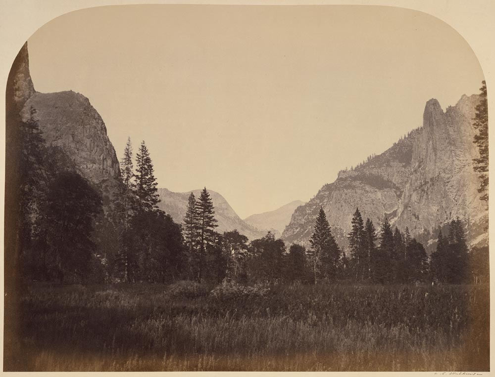 Watkins #9 - Up Yosemite Valley from the Foot of Mariposa Trail