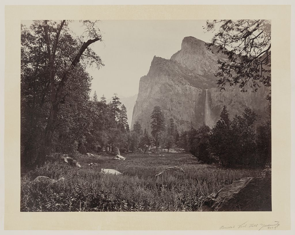 Watkins #13 - Bridal Veil Fall in Springtime, Yosemite