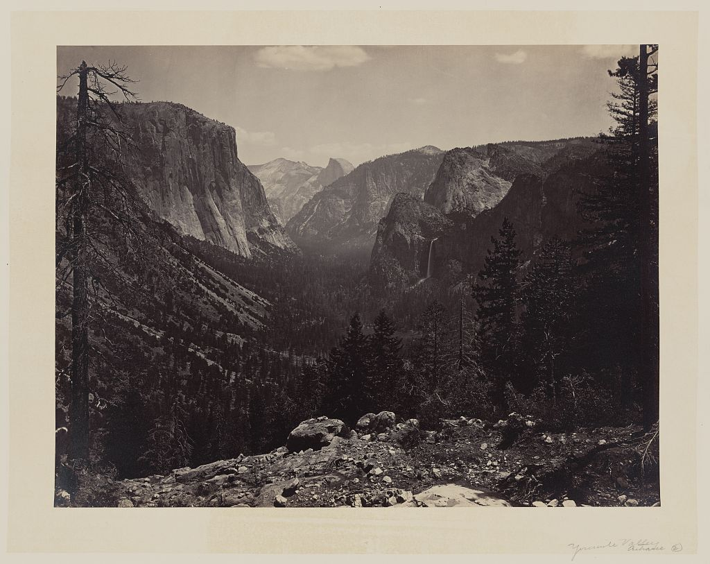 Watkins #6 - Yosemite Valley from Mariposa Trail