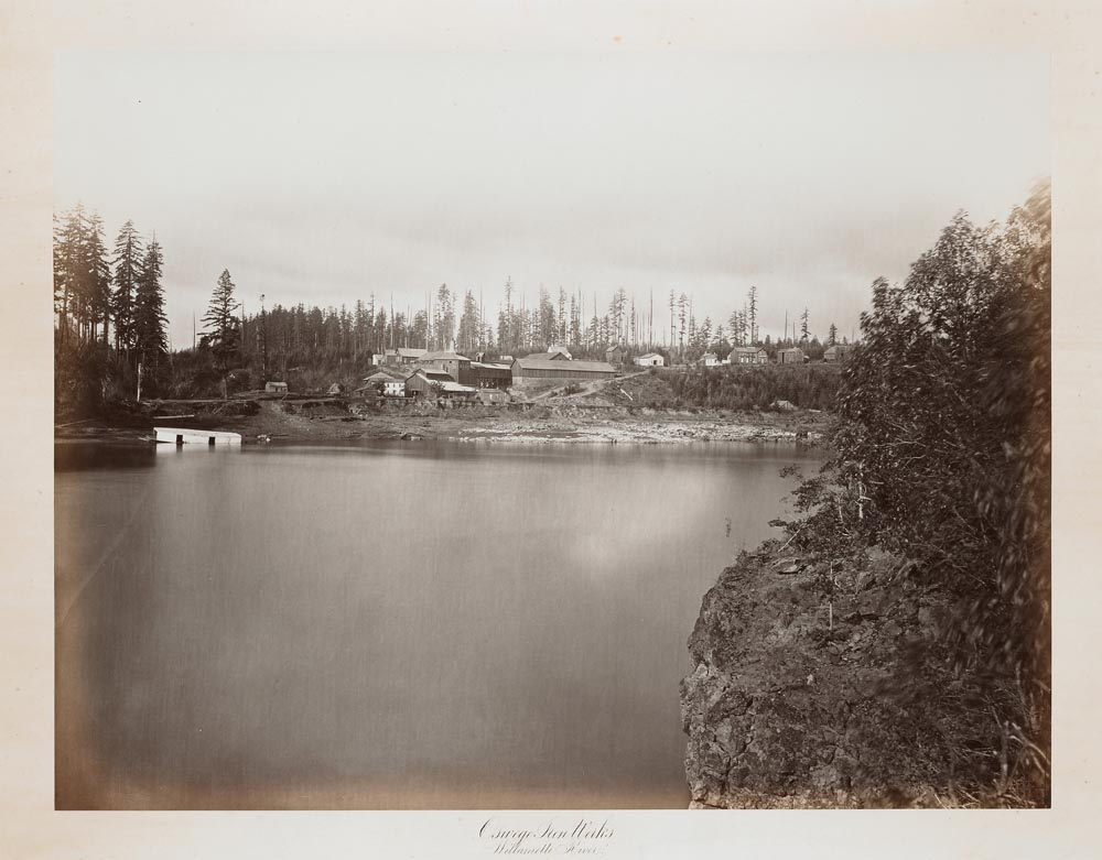 Watkins #404 - Oregon Iron Company from the Willamette River, Oswego, Oregon