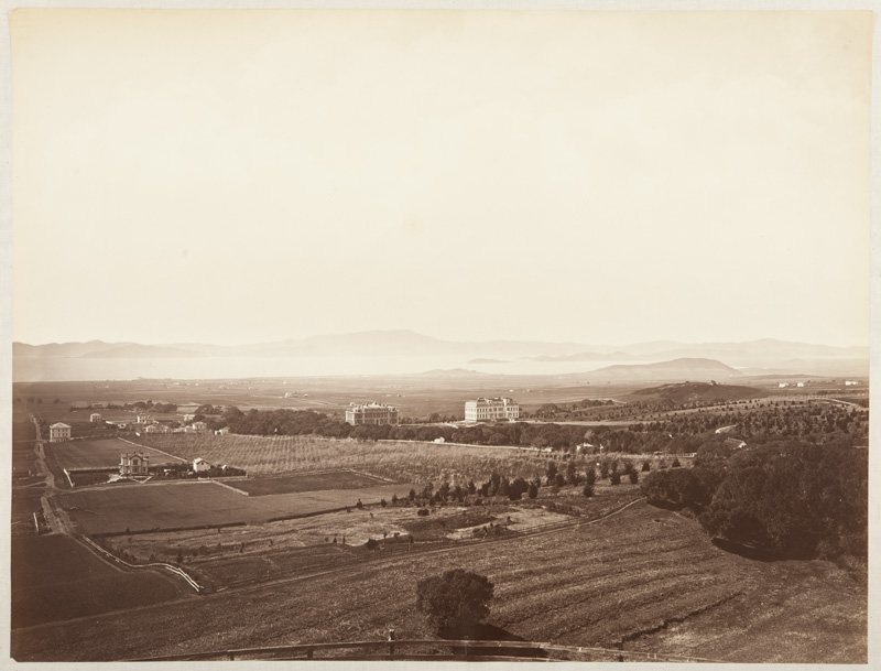 Watkins #674 - View from the University Grounds, Berkeley, Alameda County