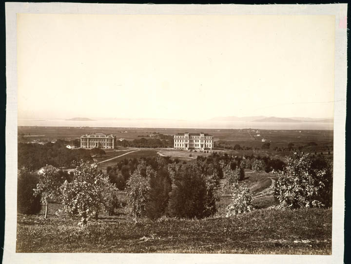 Watkins #673 - The Golden Gate from the University Grounds, Berkeley, Alameda County