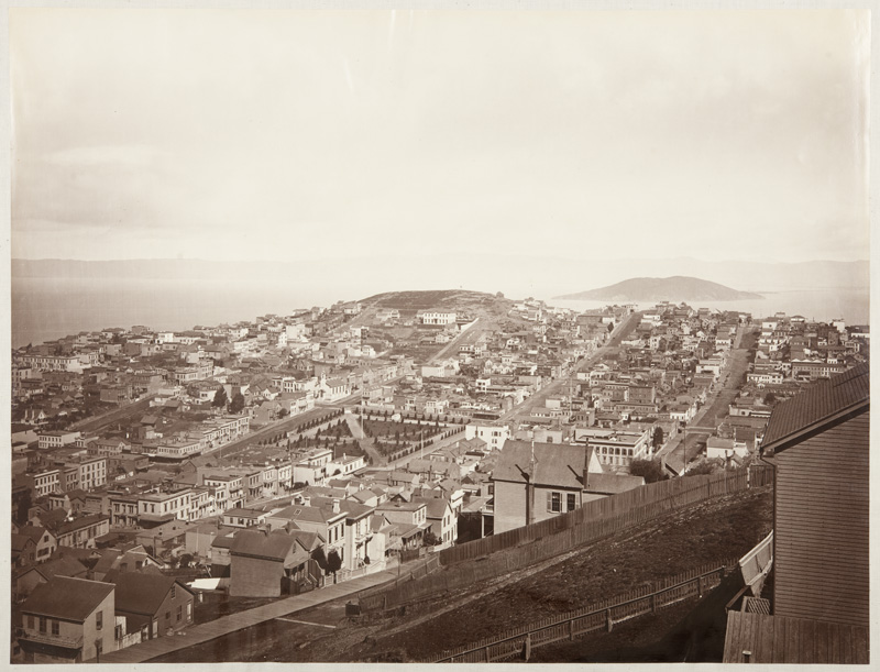 Watkins #623 - View from Russian Hill, Showing Telegraph Hill and Goat Island, San Francisco