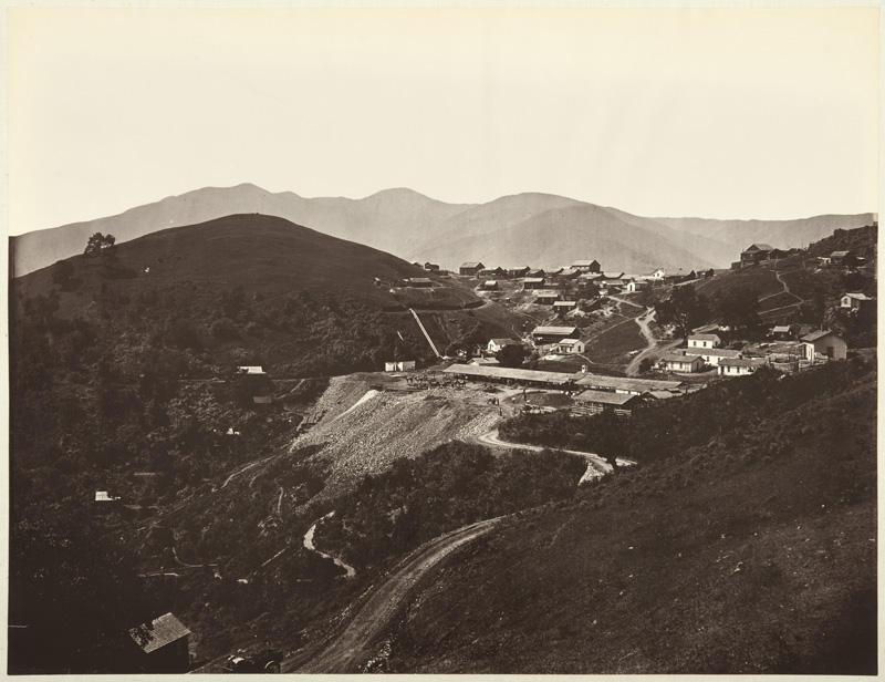 Watkins #131 - The First View of the Mine, looking South, New Almaden